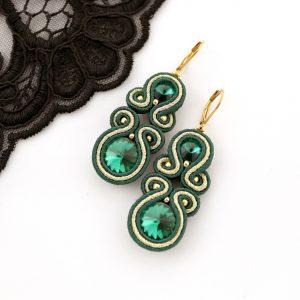butelkowa zieleń biżuteria