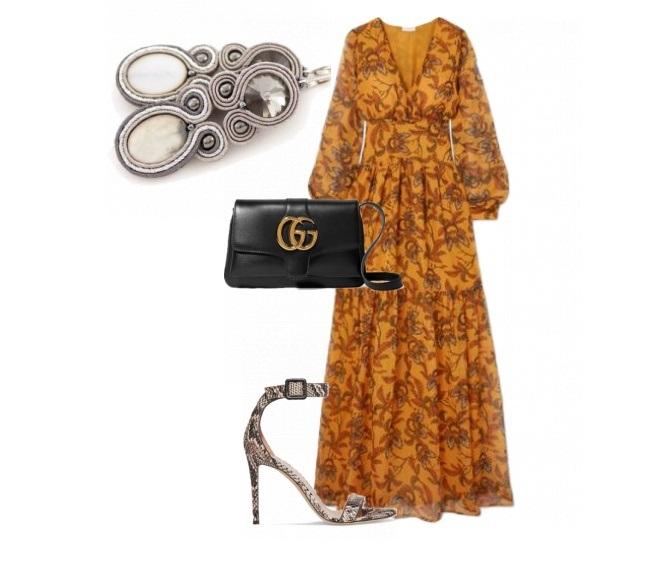 żółta zwiewna sukienka