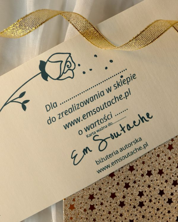 bon prezentowy, karta podarunkowa, bona na prezent