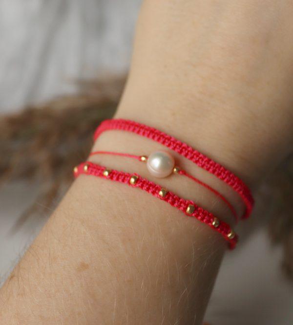 bransoletki na rękę, prezent dla kobiet, perła hodowlana, bransoletki miłości
