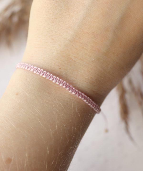 bransoletka w pudrowym różu dla minimalistki (1)