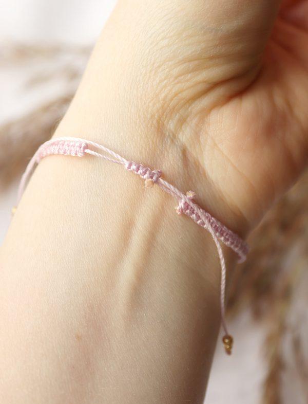 bransoletka w pudrowym różu dla minimalistki (2)