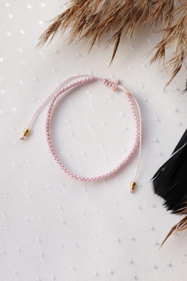 bransoletka w pudrowym różu dla minimalistki (4)