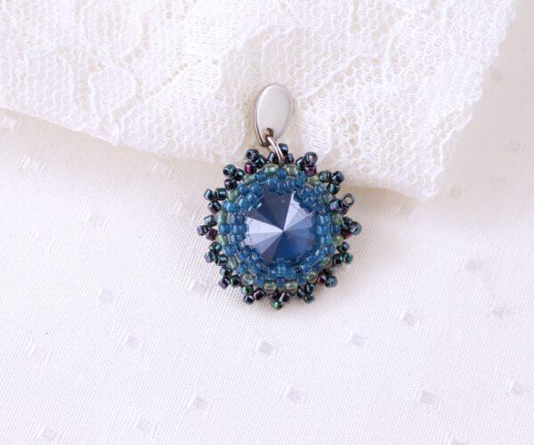 mroźne kolczyki z kryształkami w odcieniach niebieskiego (2)