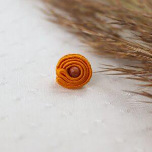pomarańczowe kolczyki z kuleczkami piasku pustyni (2)